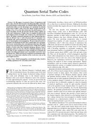Quantum Serial Turbo Codes - EPIQ - Université de Sherbrooke