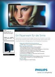 Leaflet 47PFL9703D 10 Released Germany (German ... - Philips