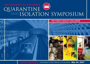 QUARANTINE AND ISOLATION SYMPOSIUM - University of the ...