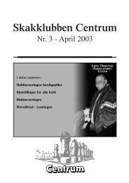 Klubblad nr. 3/2003 - Skakklubben Centrum