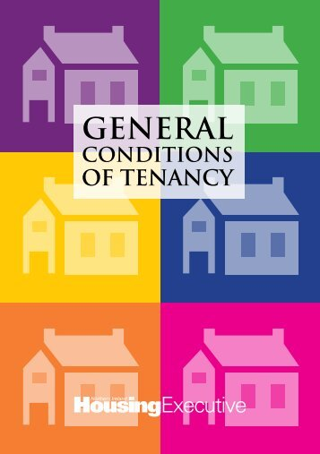 General Conditions of Tenancy - Northern Ireland Housing Executive