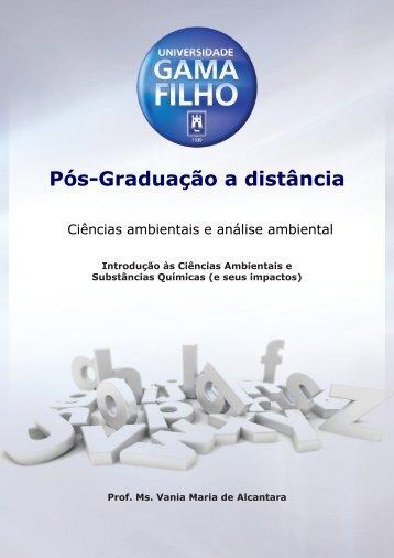 A Origem das Ciências Ambientais - Universidade Gama Filho