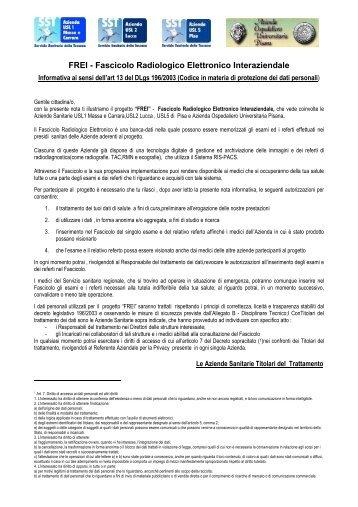 Consenso FREI - Azienda Ospedaliero-Universitaria Pisana