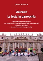 Vademecum - La festa in parrocchia 2012 - Diocesi di Brescia