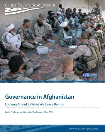 Governance in Afghanistan - Center for American Progress