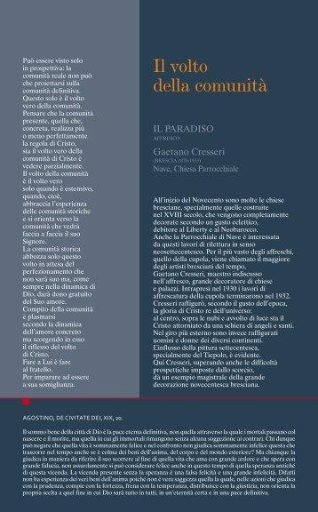 Il volto della comunità - (118 Kb) PDF - Diocesi di Brescia