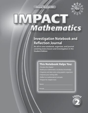 Investigation Notebook and Reflection Journal - McGraw-Hill Higher ...
