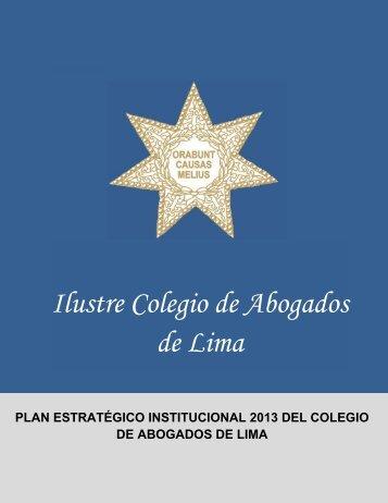 Plan de Trabajo - Colegio de Abogados de Lima