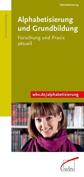 Alphabetisierung und Grundbildung - W. Bertelsmann Verlag