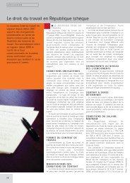 Le droit du travail en République tchèque - Peterka & Partners