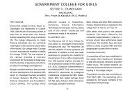 GOVERNMENT COLLEGE FOR GIRLS - Chandigarh