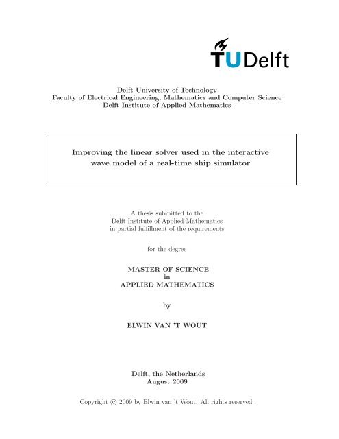 Delft master thesis