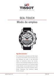 SEA-TOUCH Modo de empleo - Support - Tissot