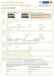 Kartenantrag: PayLife Business Gold Karte (pdf) - Kreditkarte.at