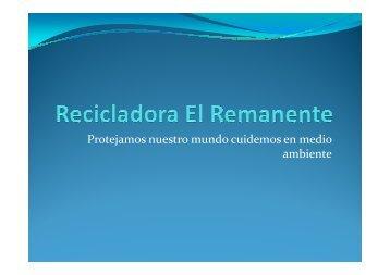 Recicladora El Remante - Tu patrocinio