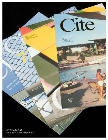 please download our ad kit - Cite Magazine