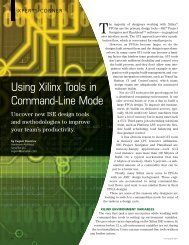 Xcell Journal Issue 74: Using Xilinx Tools in Command-Line Mode