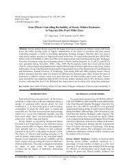 Gene effects controlling heritability of downy mildew resistance in