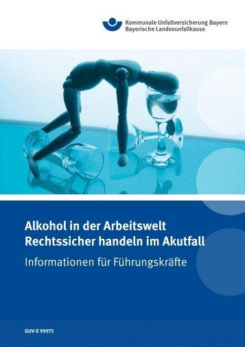 Alkohol in der Arbeitswelt Rechtssicher handeln im Akutfall