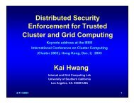 Distributed Security Enforcement for Trusted Cluster and Grid ...