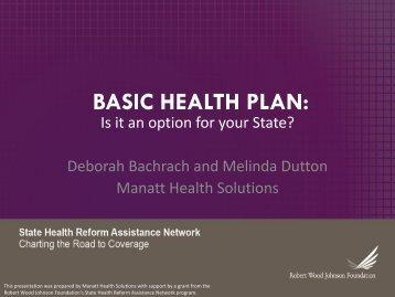 BASIC HEALTH PLAN: Di