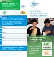 FairKick – mehr als nur ein Spiel - Fussball Lernen Global