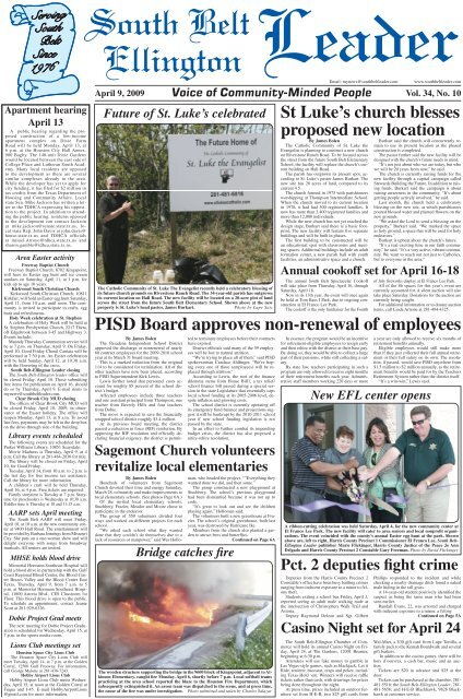 Pisd Board Approves Non Renewal Of Employees South Belt