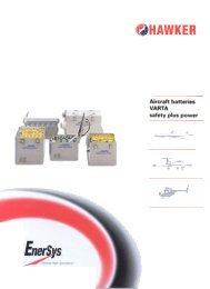Aircraft batteries VARTA safety plus power