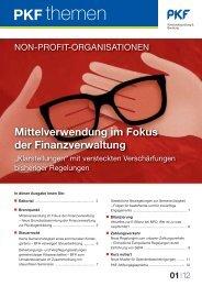 Ausgabe 01|12 Mittelverwendung im Fokus der ... - PKF
