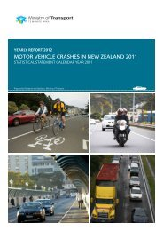 Motor Vehicle Crashes in New Zealand 2011 - Ministry of Transport