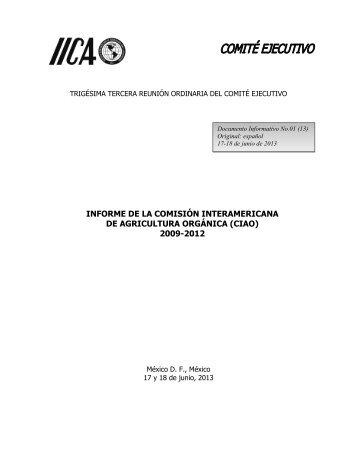 Informe Ejecutivo de la CIAO 2009-2012 - Instituto Interamericano ...
