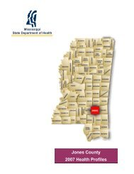 Jones County 2007 Health Profiles - Mississippi State Department of ...