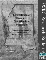 Reforestation of Harvested Timberlands in Mississippi - Forest and ...