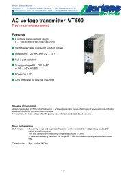 VT500-00- Prospekt - Martens Elektronik GmbH