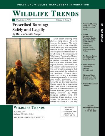 wildlife trends wildlife trends - Forest and Wildlife Research Center ...