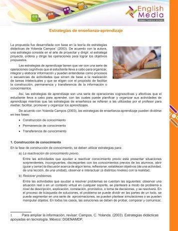Estrategias de enseñanza-aprendizaje - cuaed