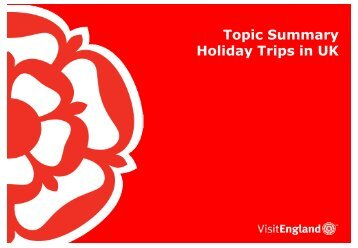 UK Holiday Trips - VisitEngland