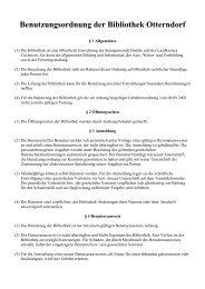 Benutzungsordnung der Bibliothek Otterndorf