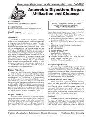 Anaerobic Digestion: Biogas Utilization and Cleanup - OSU Fact ...