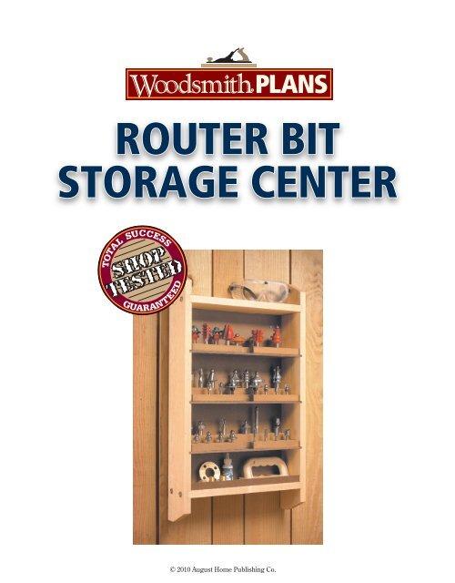 Router Bit Storage Center Woodsmith Shop