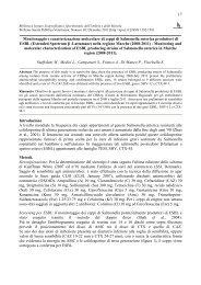 17 Monitoraggio e caratterizzazione molecolare di ceppi di ... - SPVet.it