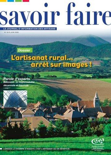 L'artisanat rural... arrêt sur images ! - Chambre des Métiers et de l ...