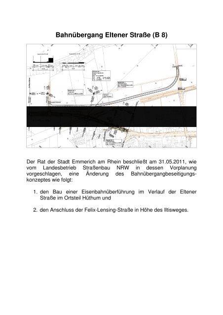 Bahnübergang Eltener Straße - Emmerich