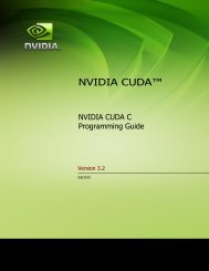 NVIDIA CUDA C Programming Guide version 3.2 - Department of ...