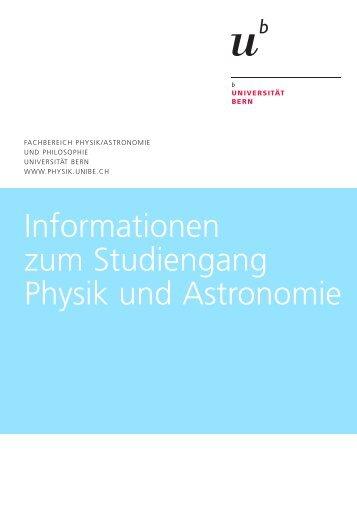 Broschüre Physik/Astro (pdf, 4.2 MB) - Fachbereich Physik und ...