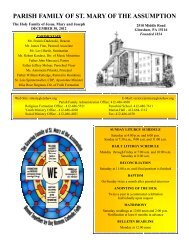 December 30, 2012 - St. Mary of the Assumption Parish