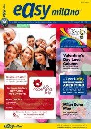 Valentine's Day Love Column Milan Zone Map - Easy Milano