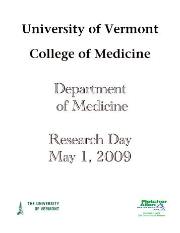Department Of Medicine Research Day May 1, 2009 - College of ...