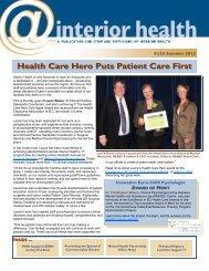 Edition 123 - Summer 2012 - Interior Health