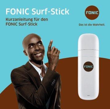 FONIC Surf-Stick Kurzanleitung für Huawei E173 (PDF 5.400 KB)
